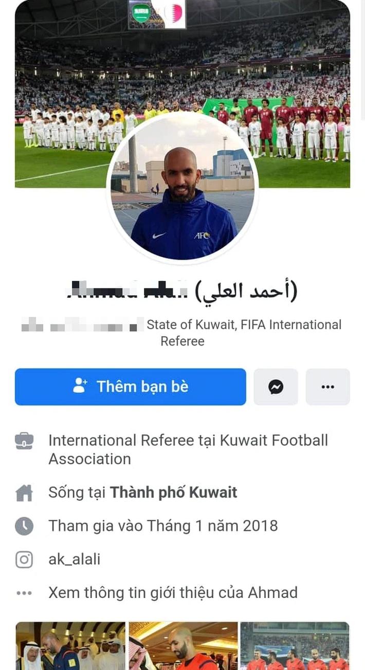 Không có chuyện trọng tài Ahmad Alali khoá Facebook do bị cổ động viên Việt Nam tấn công - Ảnh 3.