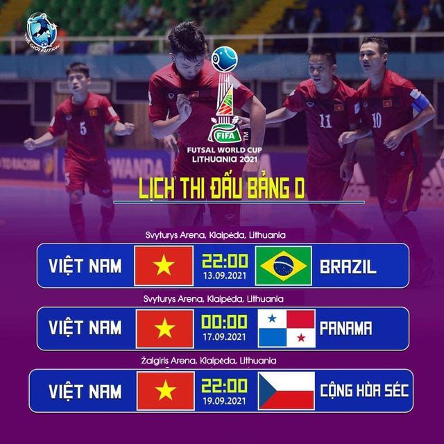 Lịch thi đấu futsal Việt Nam ở World Cup futsal 2021 - Ảnh 1.